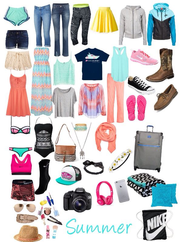 Summer Vacation Packing List For Teens | •Travel• | Pinterest ...