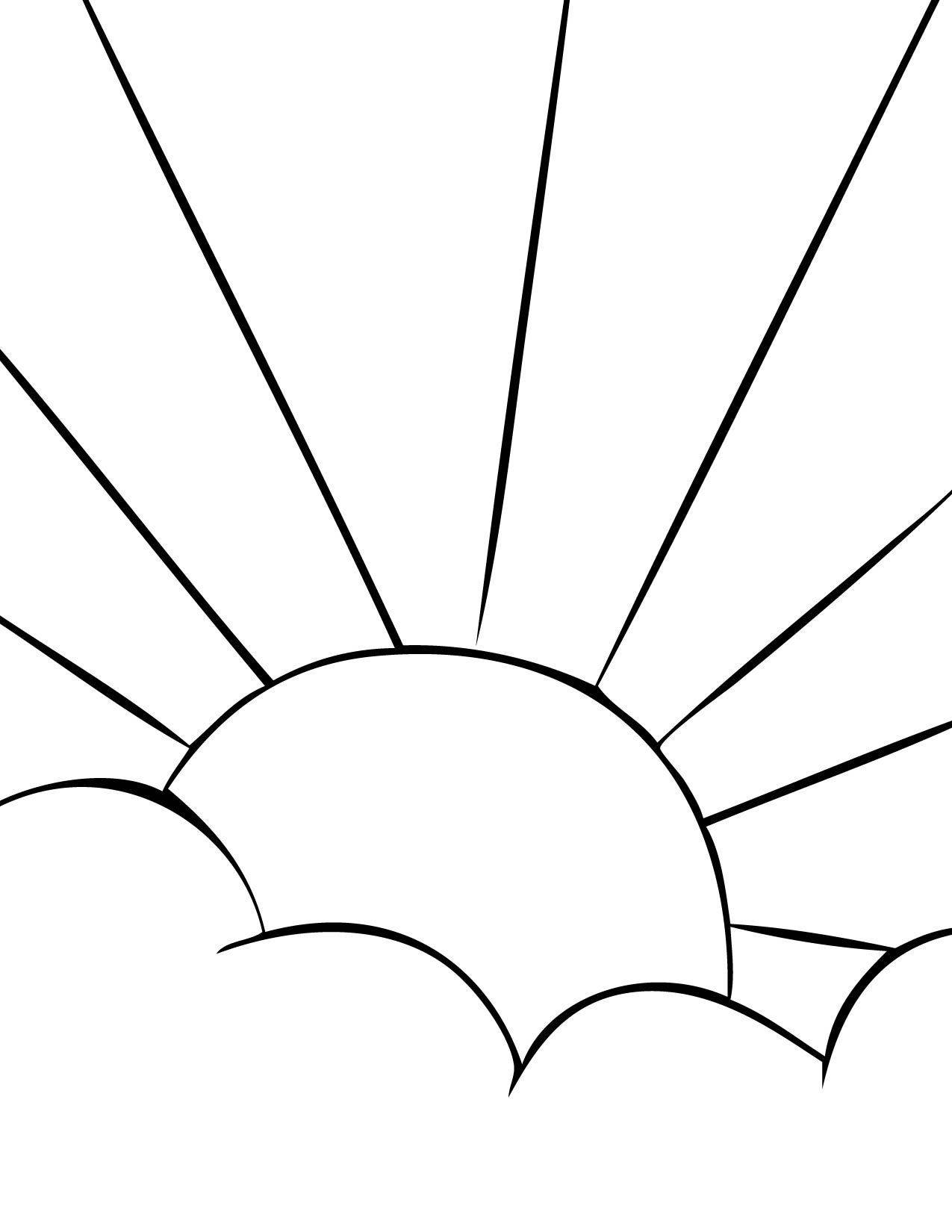 Sun Clip Art | Print This Page | Our Solar System Coloring Pages ...