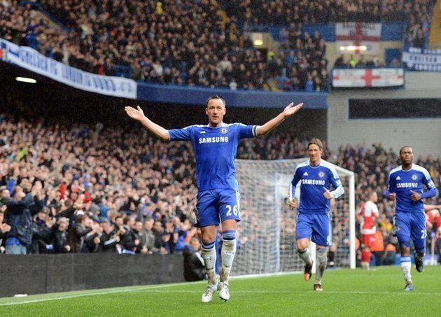 """Chelsea vs QPR 29/04/12"" Terry score"