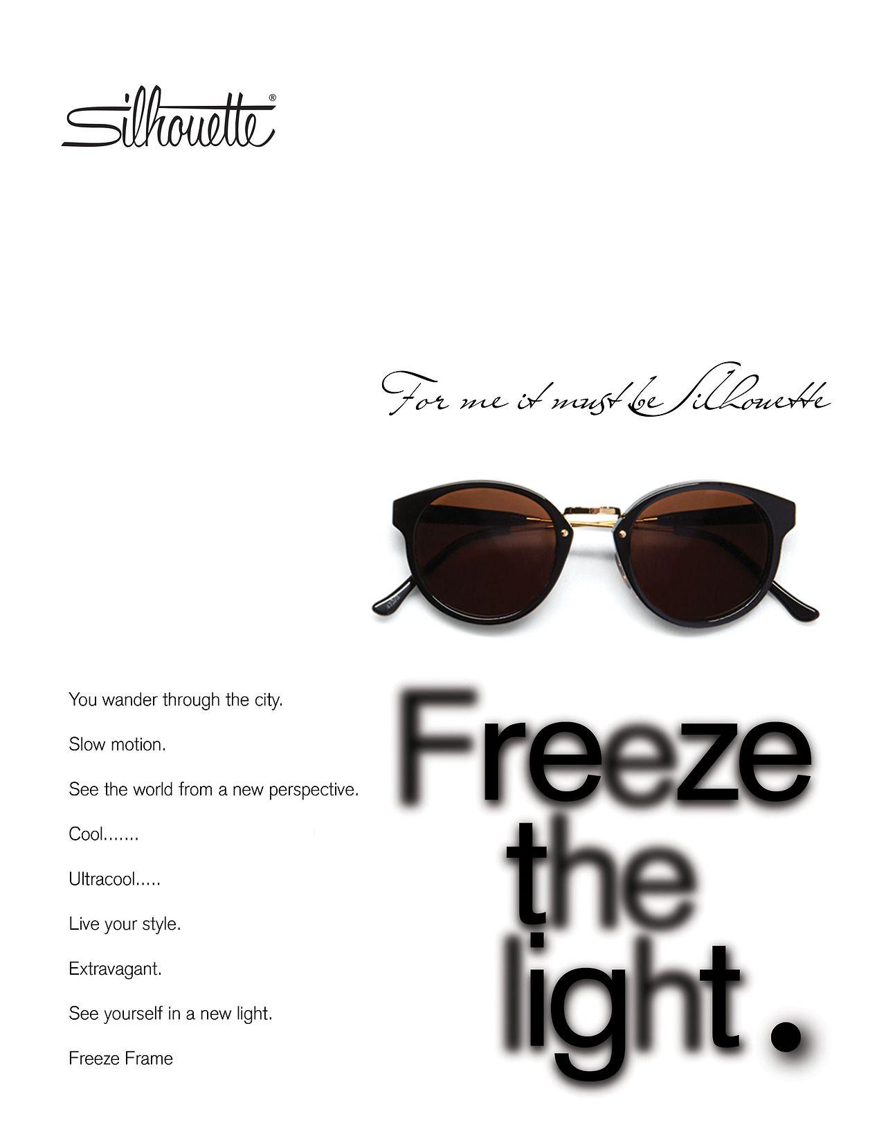 Sunglass ad poster