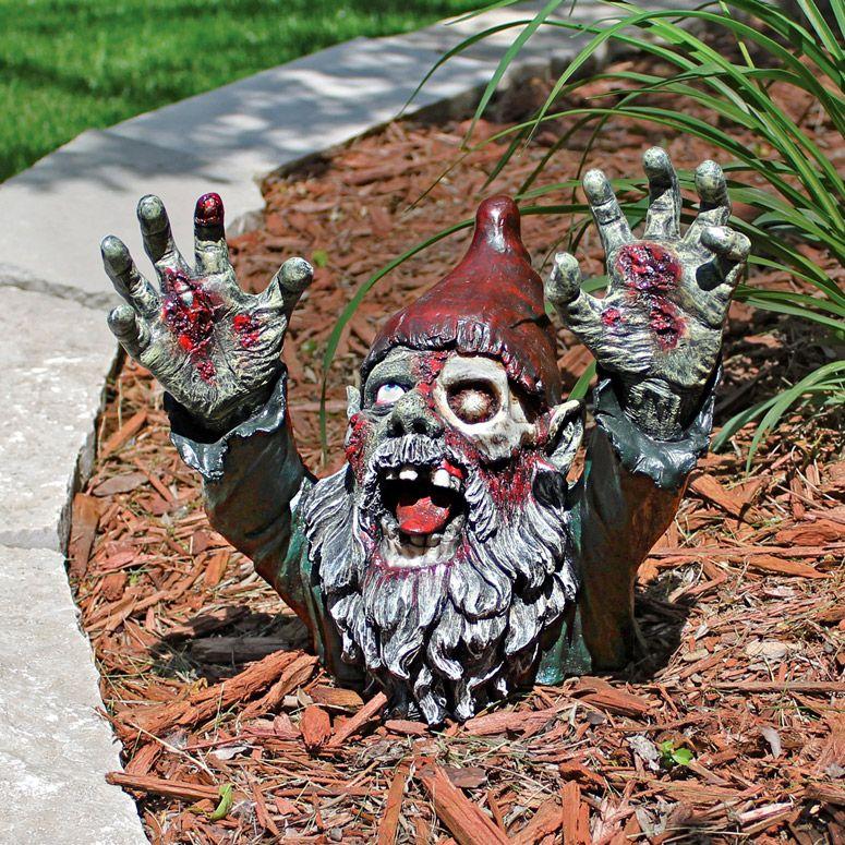 Gnome In Garden: Gnombie - Undead Zombie Garden Gnome