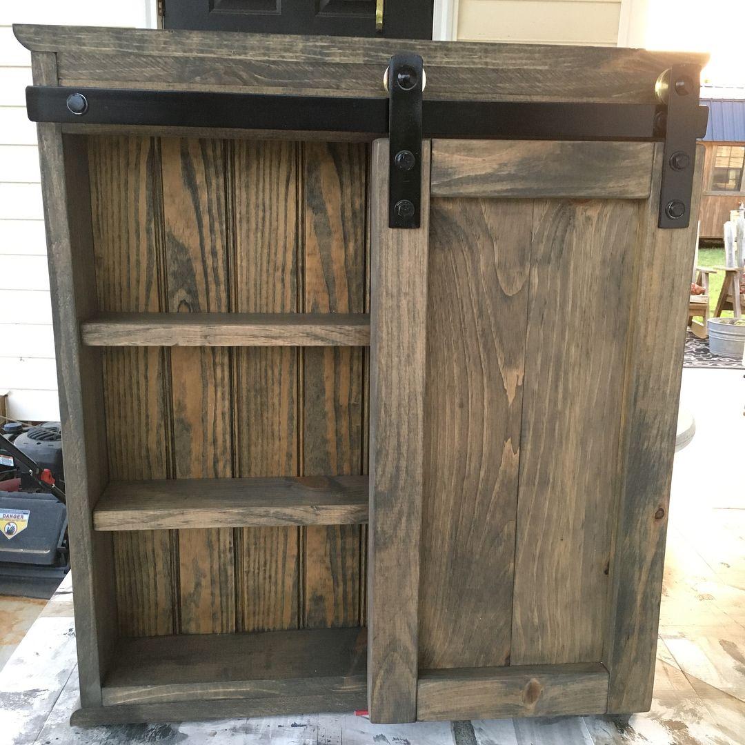 diy barn door kitchen cabinets