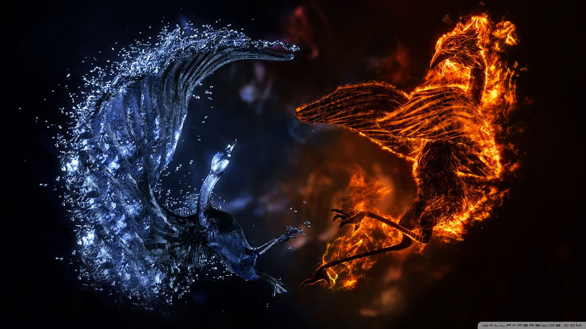 Abstract - Fire And Ice Wallpaper | adorably sad | Pinterest | Ice ...