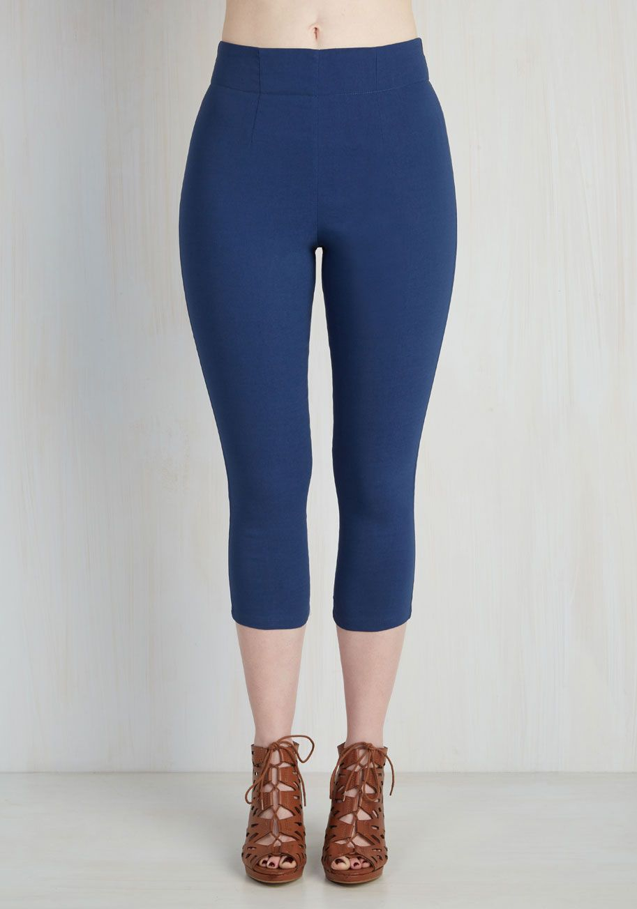 Jive Got a Feeling Pants in Navy. Bop around to your vintage records in retro-inspired glamour with these sleek navy pants! #blue #modcloth