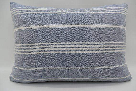 Navy Stripe Pillow Cover Navy Pillow