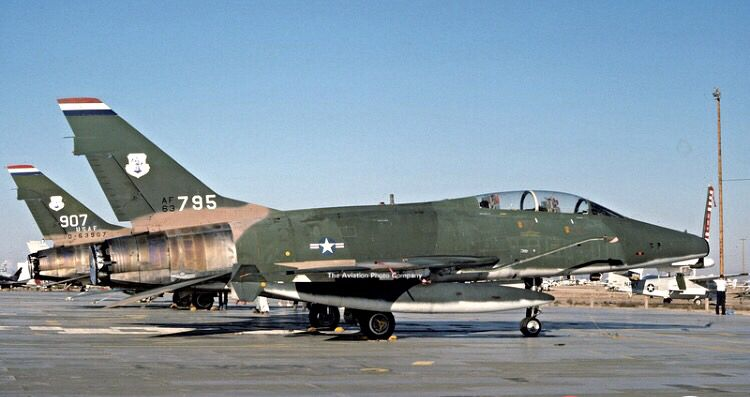 North American F-100F Super Sabers of the 163ed TFS of the