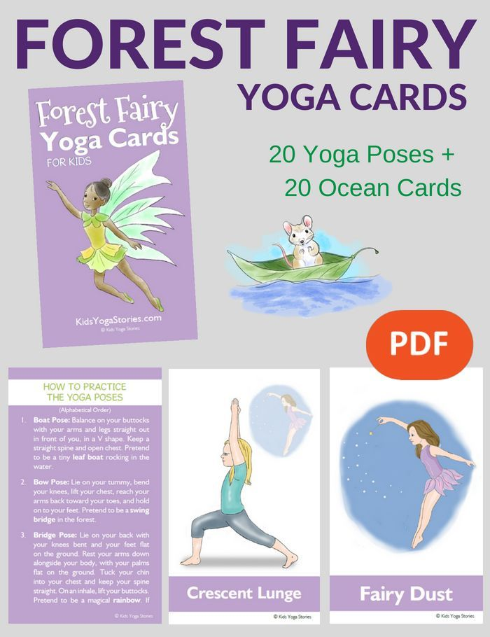Yoga Poses Fairy Ideas Free Printable Poster Kids Stories