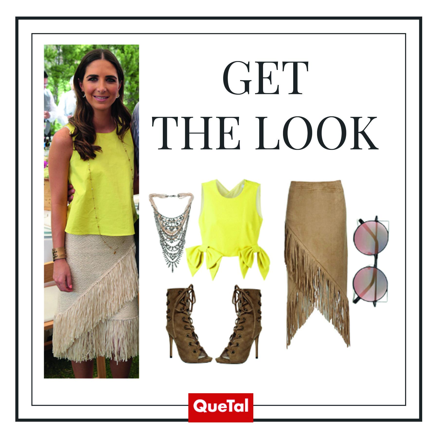 ¡Inspírate en el look Marina Jourdain para tu outfit del fin de semana! #GetTheLook #quetal #magazine #sociales #genteslp