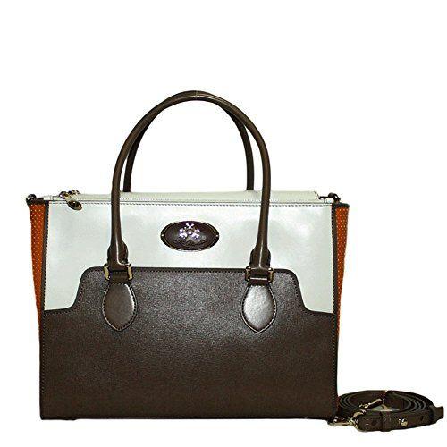 LA MARTINA (Ely) Borsa Shopping Donna Tracolla Piccola Pelle Perforata  Orange 241.005 in OFFERTA 2807f6d3b0e