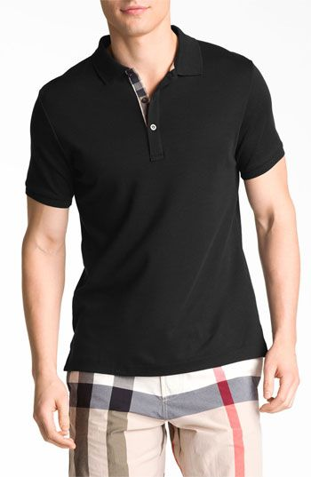 Burberry Brit Trim Fit Pima Cotton Polo available at  Nordstrom  Guardarropas eb216e1083b06