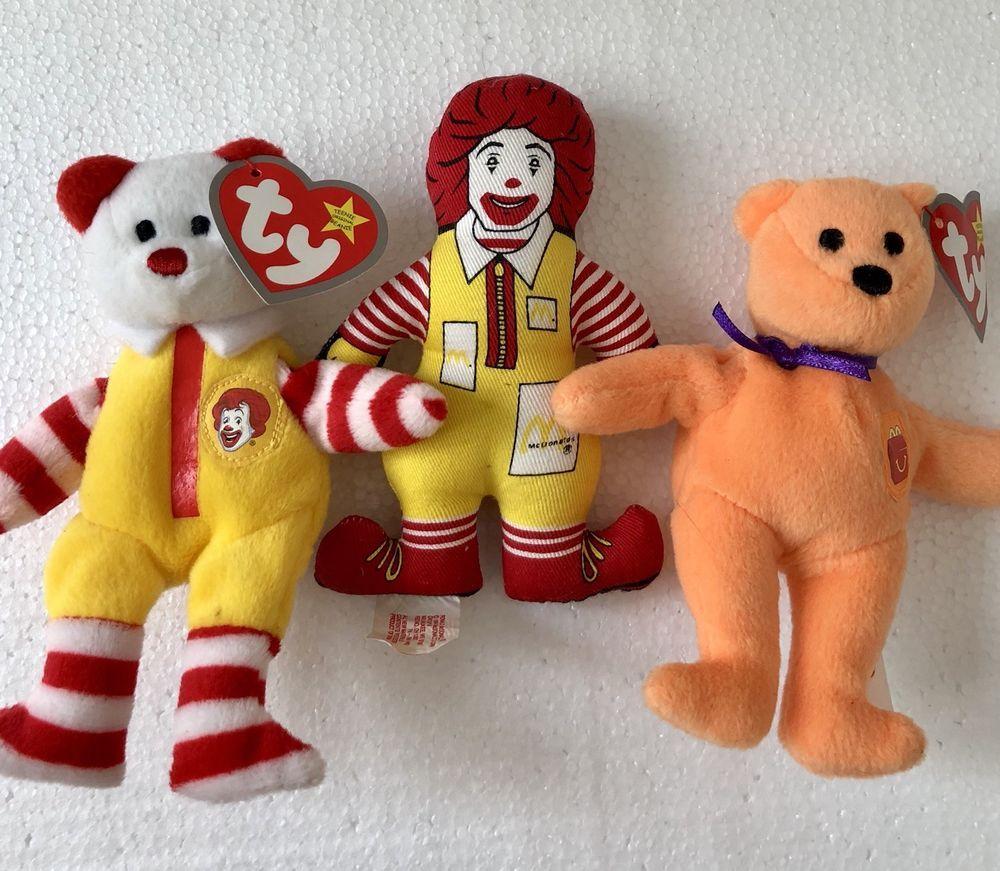 Ronald McDonald Ty Beanie Bear a92656ec9db
