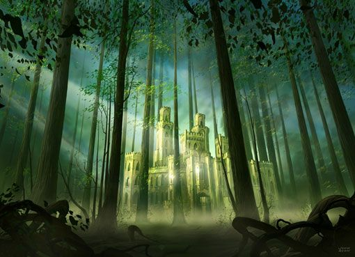 fantasy forest castles - Google Search