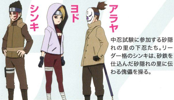 Shinki Yodo And Araya Gaara S Kids In Boruto Gaara Kid Naruto Oc Characters Gaara