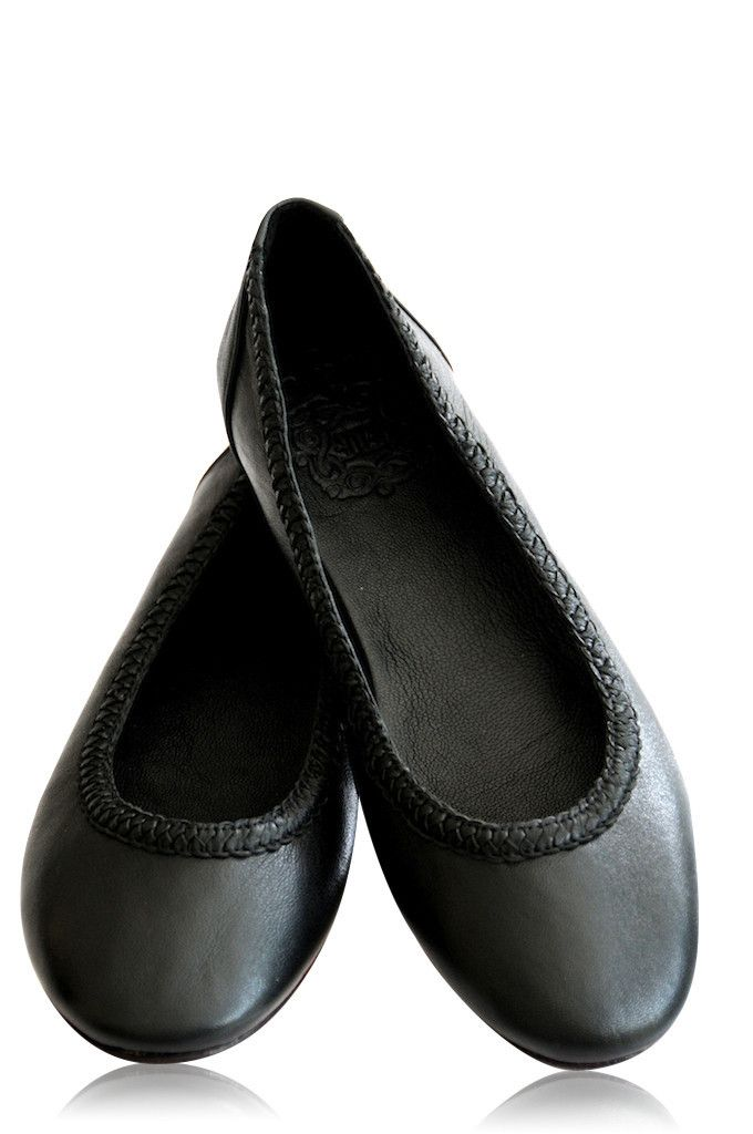2e1ca529443 Best black leather ballet flats. Made of high quality soft leather. – ELF