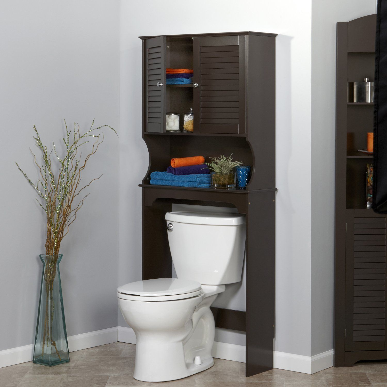 Amazon Com Riverridge Ellsworth Spacesaver Espresso Bathroom Furniture Sets Toilet Storage Over The Toilet Cabinet Over Toilet