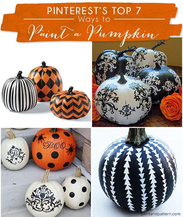 Paint A Pumpkin With Stencils