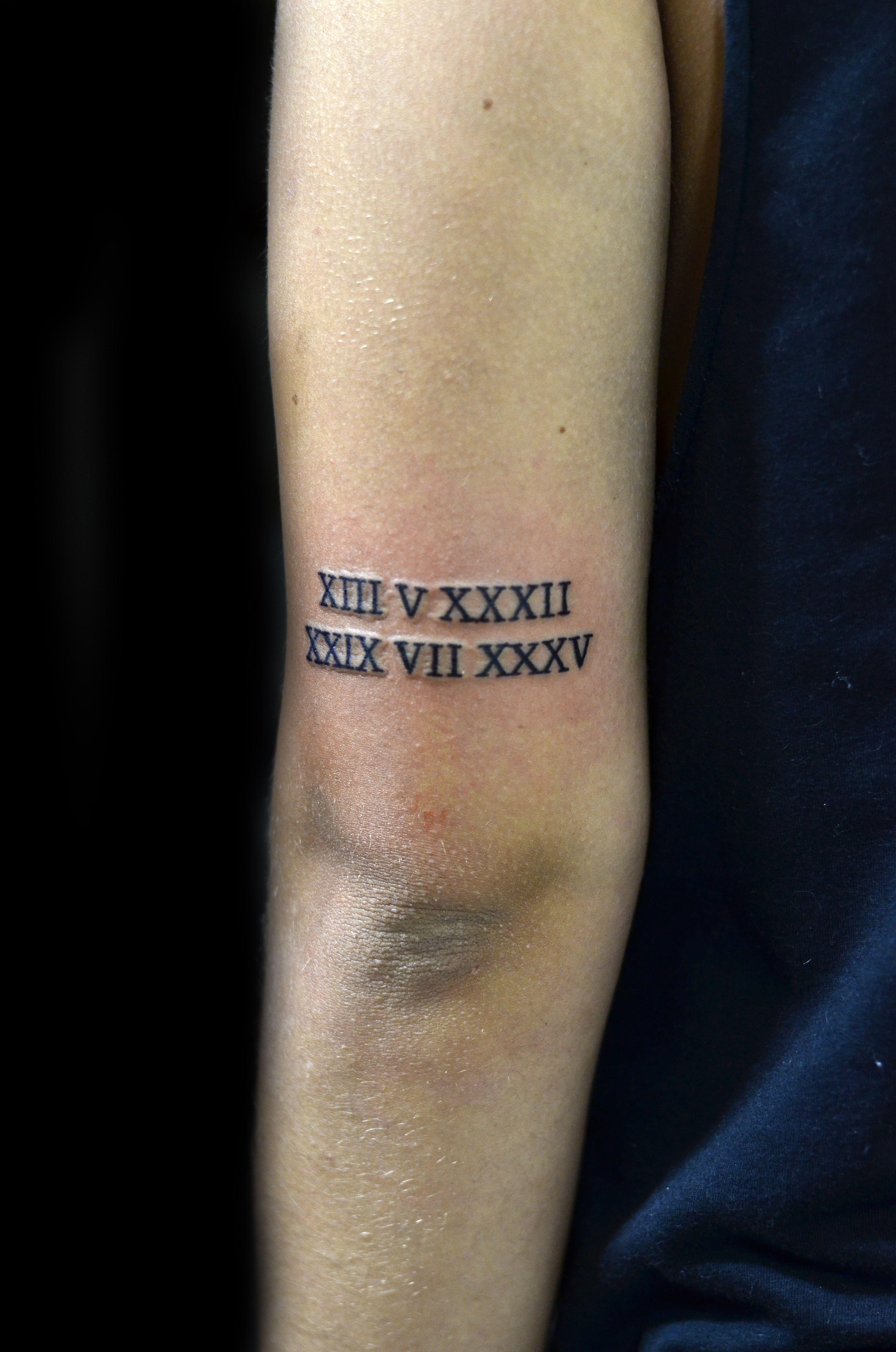 Numeros Romanos Tatuagem Thiago Padovani Numeros Romanos