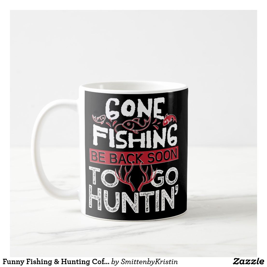 Funny Fishing Hunting Coffee Mug Fathers Day Zazzle Com Personalized Gifts For Dad Gifts For Him Unique Gifts For Men