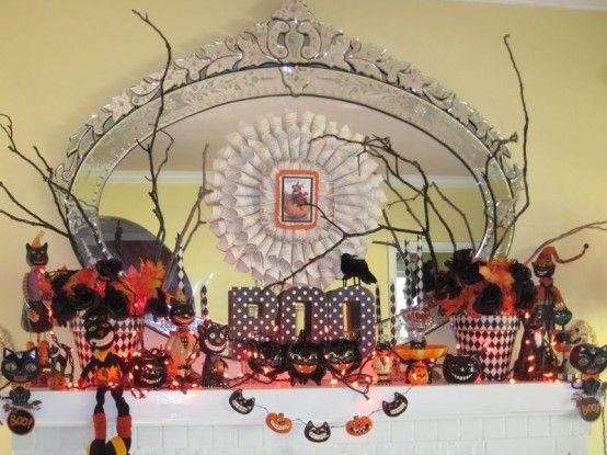70 Great Halloween Mantel Decorating Ideas Baby shower ideas - funny halloween decorating ideas