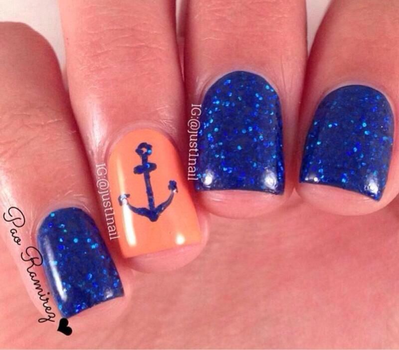 Sailor blue Nails Sailor blue Nails