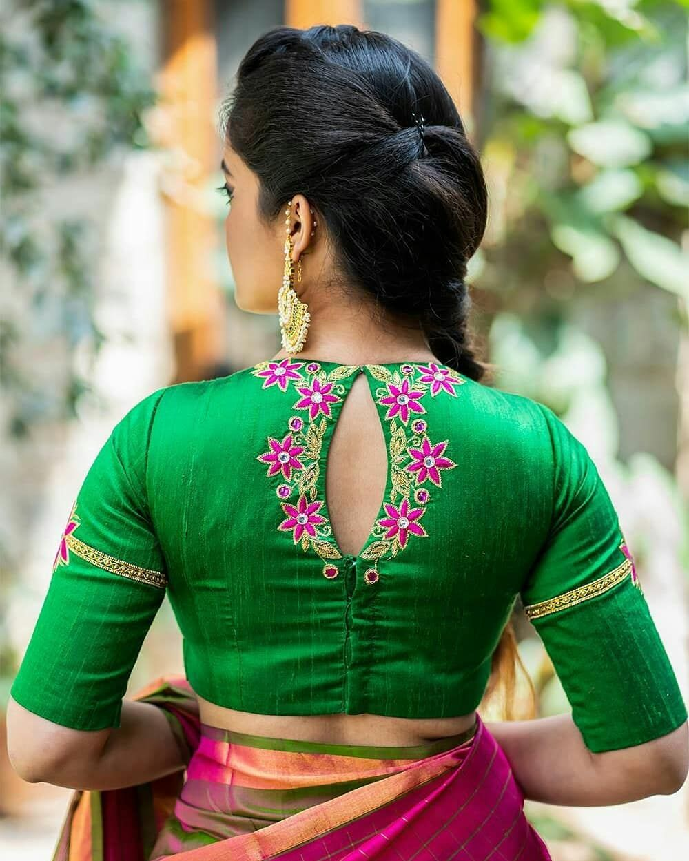 Blouse Design With Embroidery Fancy Blouse Designs Fashion Blouse Design Trendy Blouse Designs