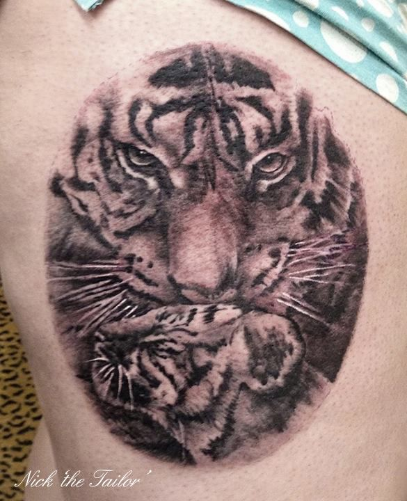 tiger cub tattoo au ergew hnliche natur pinterest natur. Black Bedroom Furniture Sets. Home Design Ideas