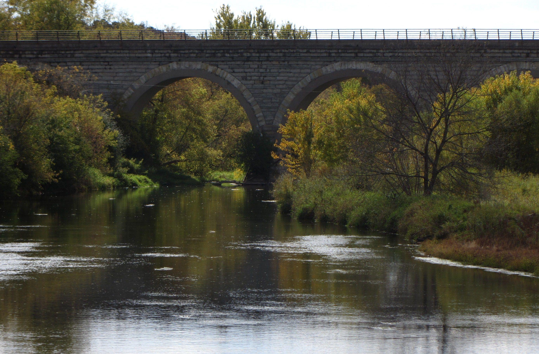 Tiffany Railroad Bridge stock image. Image of tiffany