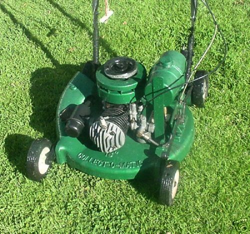 Vintage Mowers Collect O Matic Garden Tractor Push