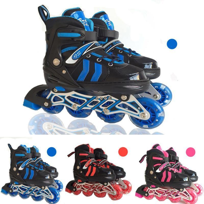 Adjustable Professional Adult Sliding Slalom Inline Skates Shoes