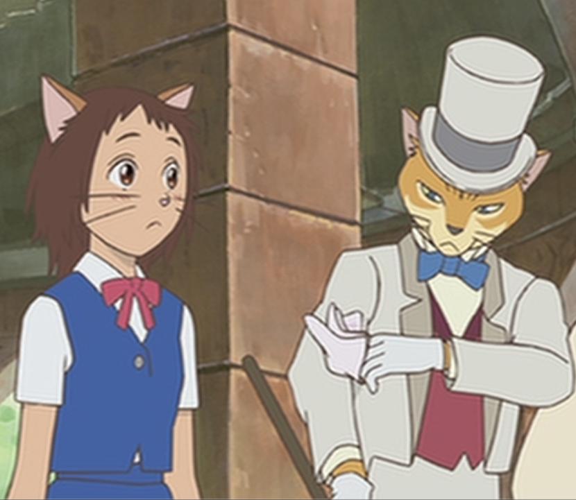 Yuuki and Baron from The Cat Returns Studio ghibli