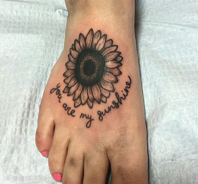 You Are My Sunshine, Sunflower Tattoo Done In Fredericton