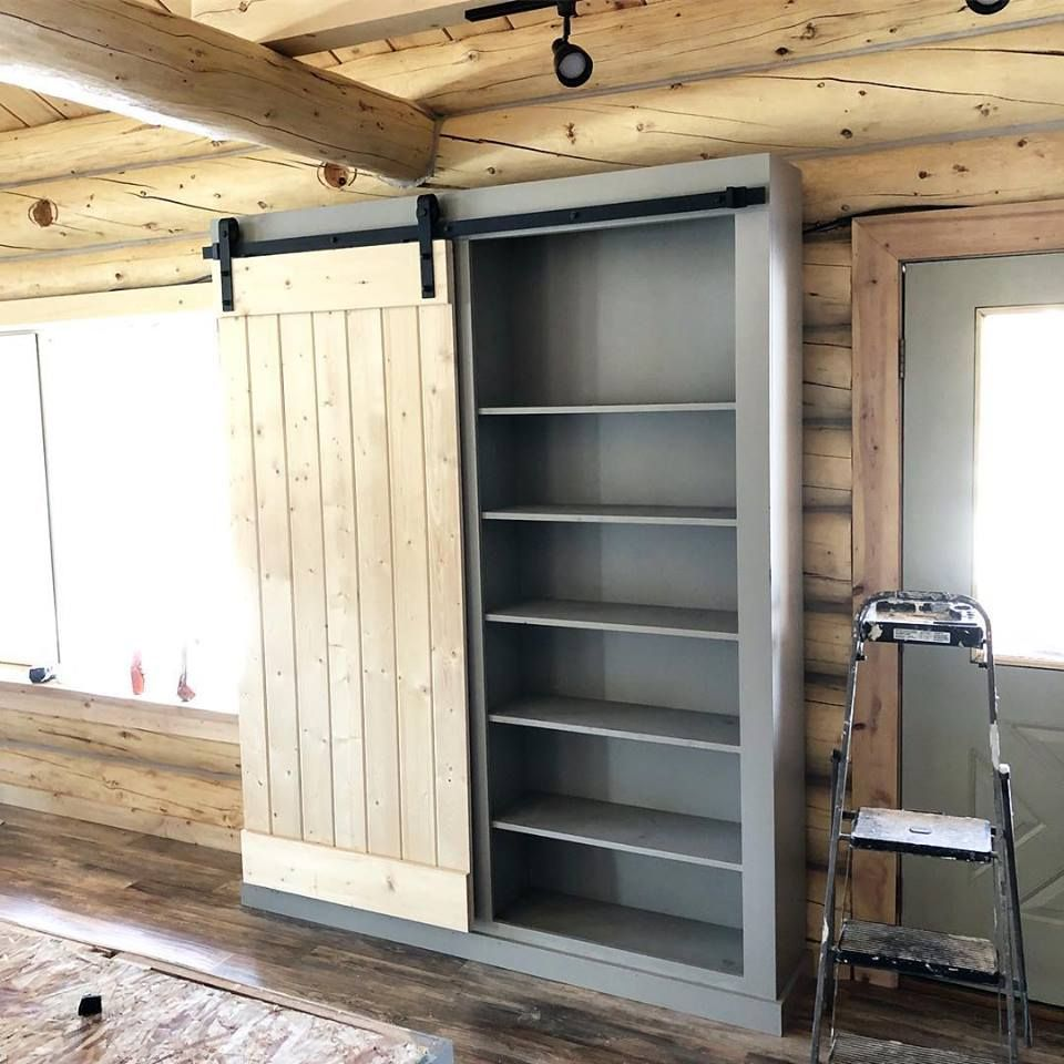 Barn Door Pantry Or Storage Ana White Sliding Bathroom Doors Barn Door Pantry Barn Door Cabinet