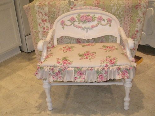 Painted rose applique shabby chair a love for shabby furniture