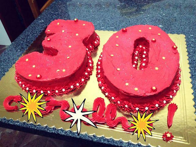 Thirty years old birthday cake :D