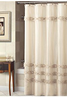 Croscill Jasmine Collection Shower Curtain In Champagne Shower