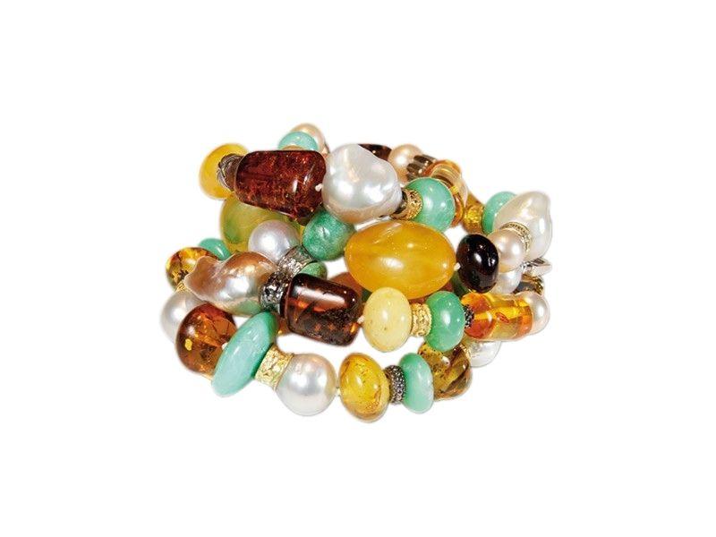 Pulsera de jade y perlas