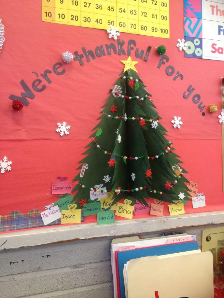 My 3 D Classroom Wall Christmas Tree Decoration Classroom Christmas Decorations Wall Christmas Tree 3d Christmas Tree