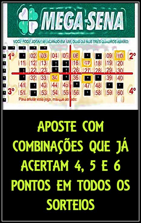Mega Sena Combinacoes Que Acertam 4 5 E 6 Pontos Mega Sena Numeros Da Mega Sena Como Ganhar Dinheiro Jogando