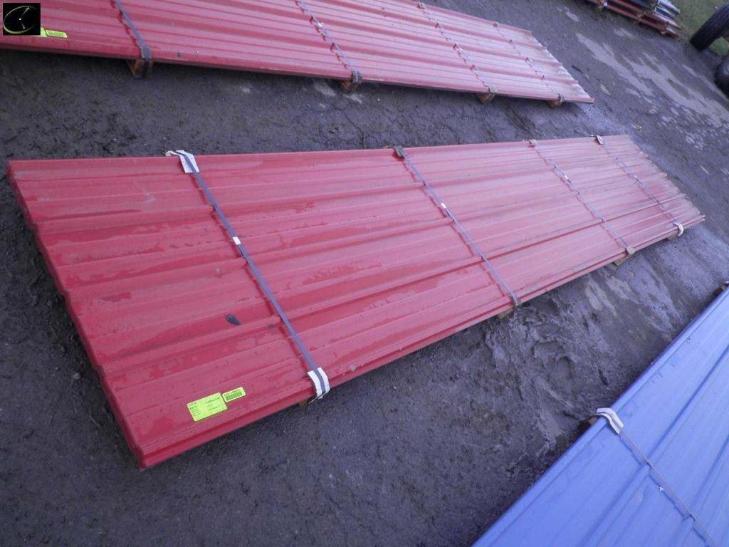 Red Corrugated Metal Panel 3 X 16 26 Gauge 25 Piece B Grade Sold By Linear Foot Corrugated Metal Metal Panels
