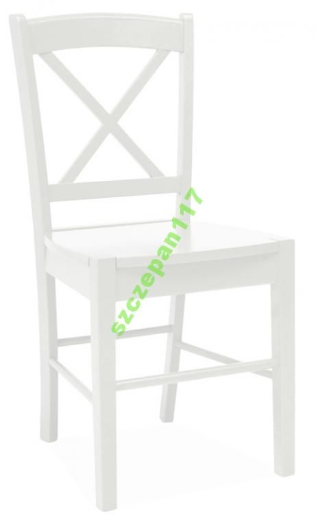 Krzesło Drewniane Cd56 Stół Salon Pub Dom Białe 5135356867