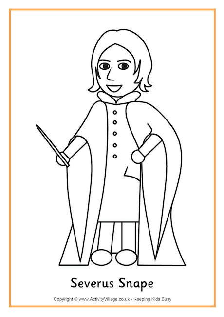 Severus Snape Colouring Page Harry Potter Coloring Pages Harry