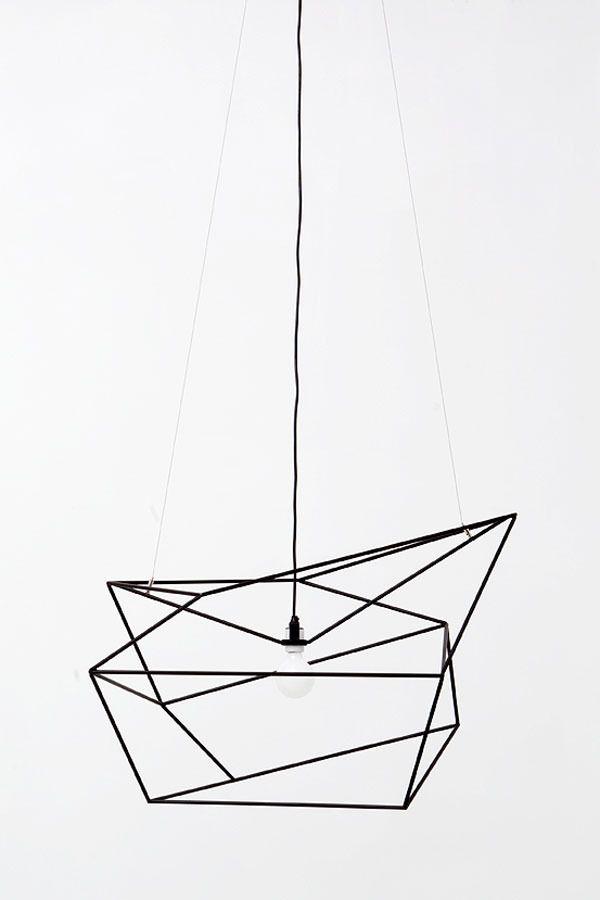 minimalist geometric light fixture | i love this...DIY project ...