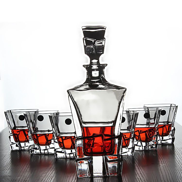 barware bar sets european crystal glass of spirits whiskey glass set 7pcs set - Whiskey Glass Set