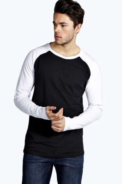 Raglan Sleeve Longline T Shirt at boohoo.com (With images ...