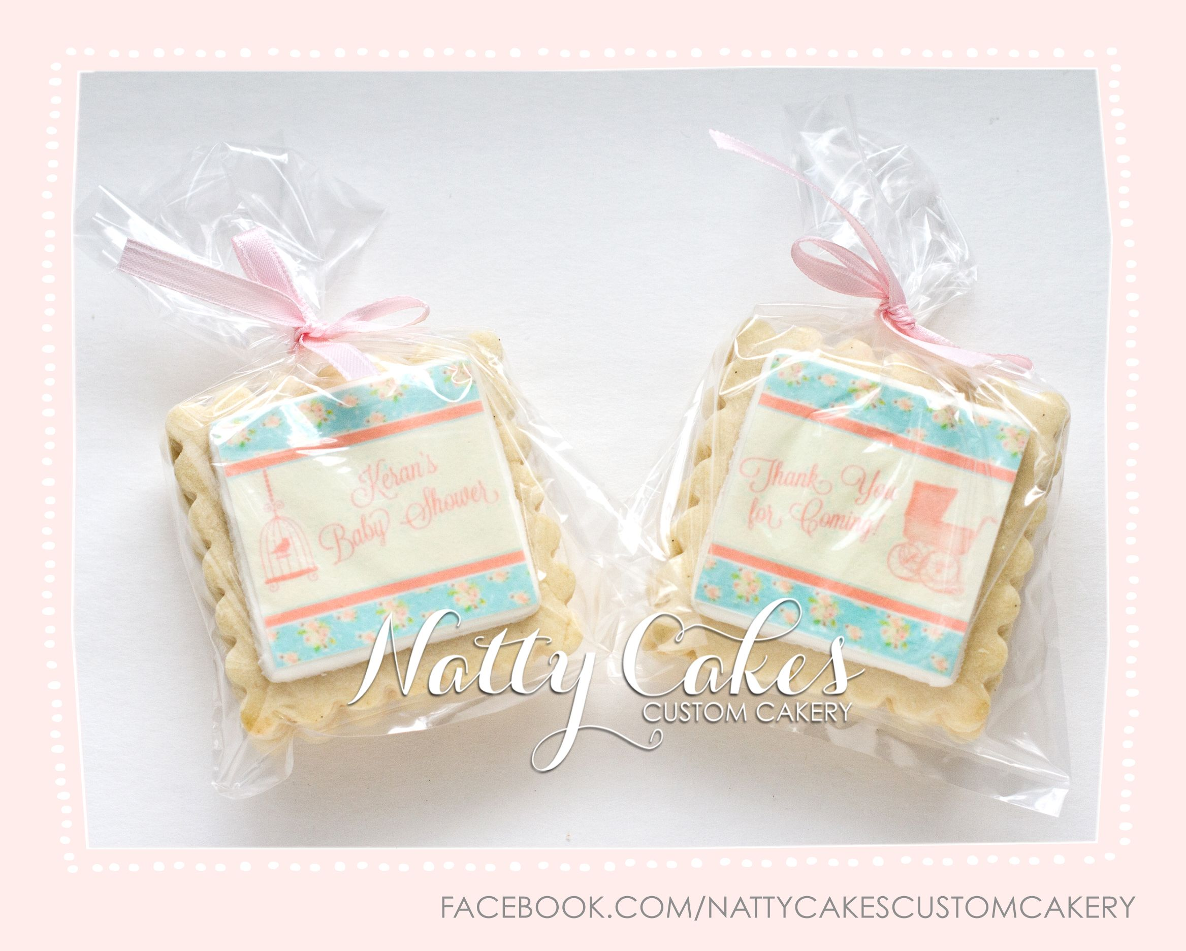 Natty Cakes Custom Cakery | Vintage tea party baby shower cookie ...