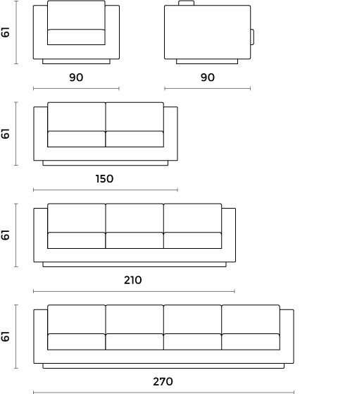 Standard Couch Size 3 Seater Sofa Dimensions