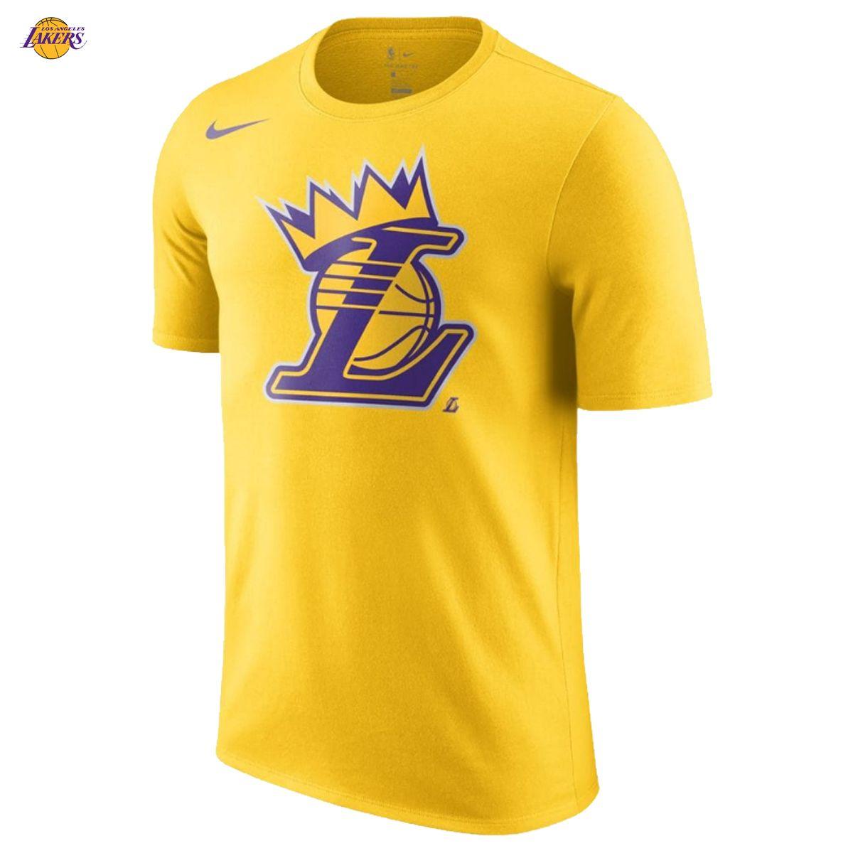 47432248 LeBron James 23 Los Angeles Lakers Nike Shirt Crown King NBA 2018/19 Pride  Yellow/Gold NWT NEW!!! The Los Angeles Lakers Crown Men's NBA T-Shirt, ...
