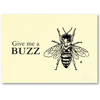 French Retro Bee Vintage Fill In The Blanks Business Card