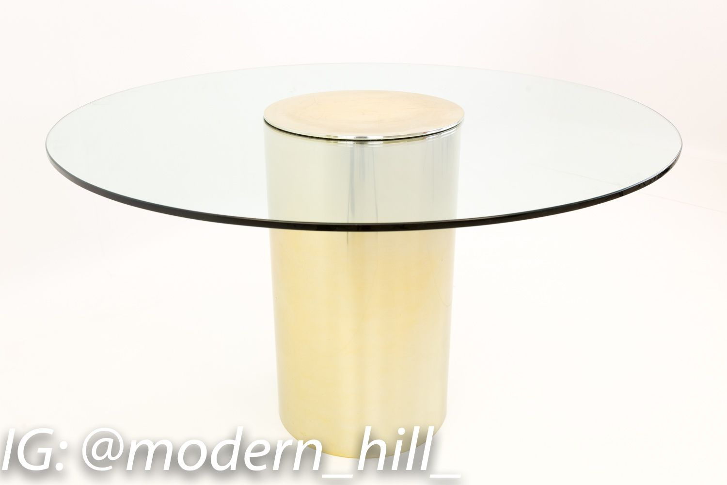 Paul Mayen For Habitat Brass And Glass Drum Dining Table Dining Table Dining Room Furniture Modern Mid Century Modern Dining Room