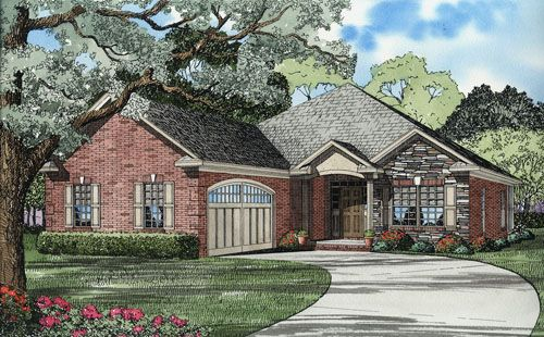 3 Bedroom Farm House Style House Plan 7369 Spring Creek Country Style House Plans Courtyard Design Unique House Plans